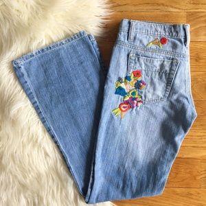 Joe's Jeans floral embroidered denim